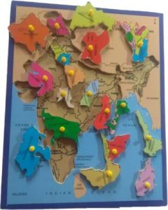 ASHMI Wooden General Knowledge Map Of Ind.