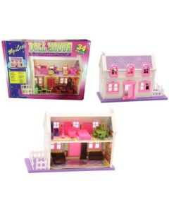 Vasoya Enterprise Beautiful Doll House Play Set with Furniture