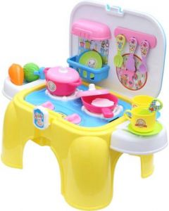 Miss & Chief Kitchen Play set with Chair and Accessories Toy for Kids#JustHere