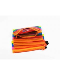 ShubhKaft Multicolor Stationary Pouch Plastic Pencil Pouch Ideal for birthday